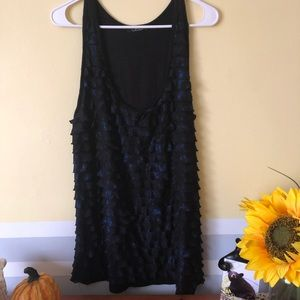 3/$30 - Black top with blue shimmer, Deb brand